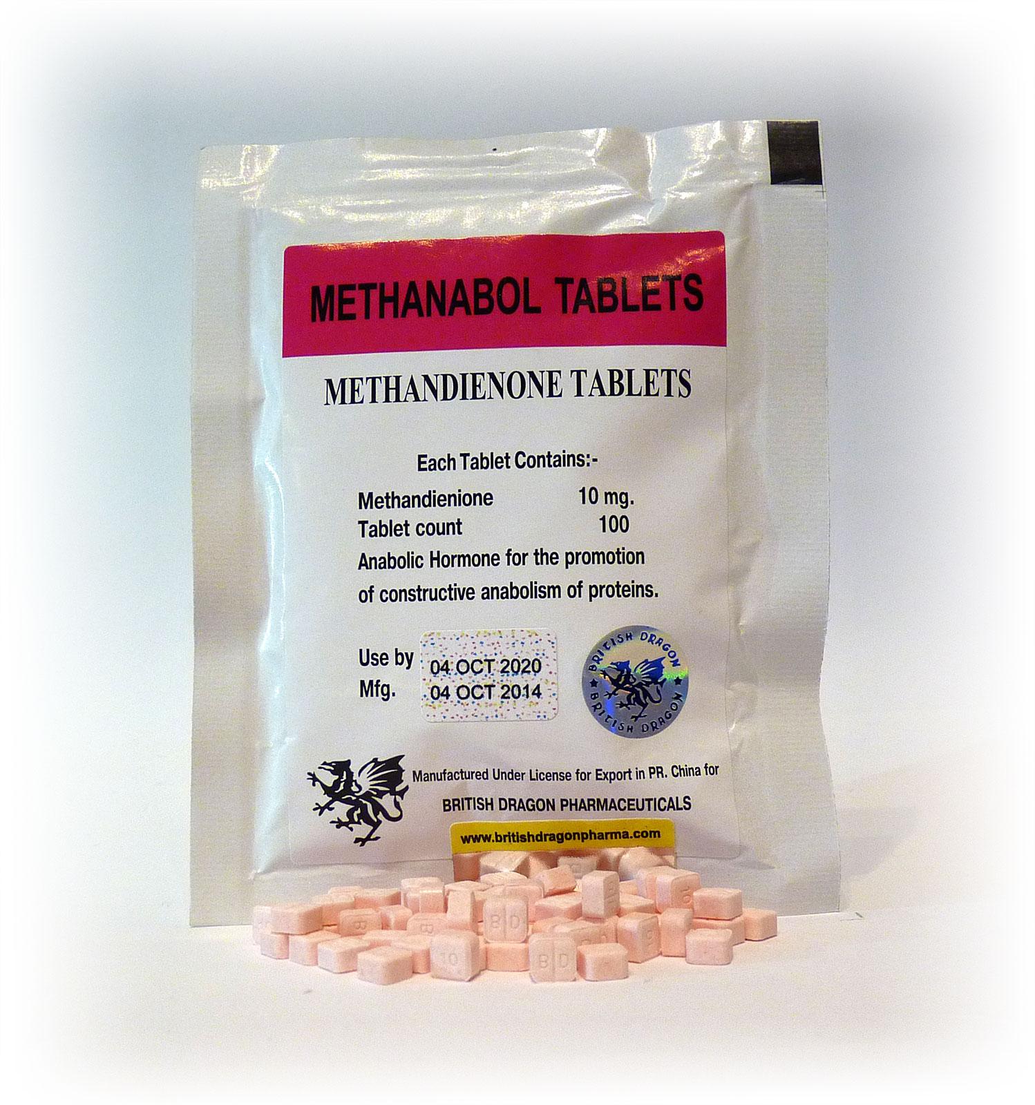 British Dragon Methanabol Tablets